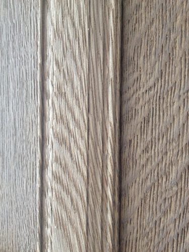 Wood panelling restoration country manor - close up to work