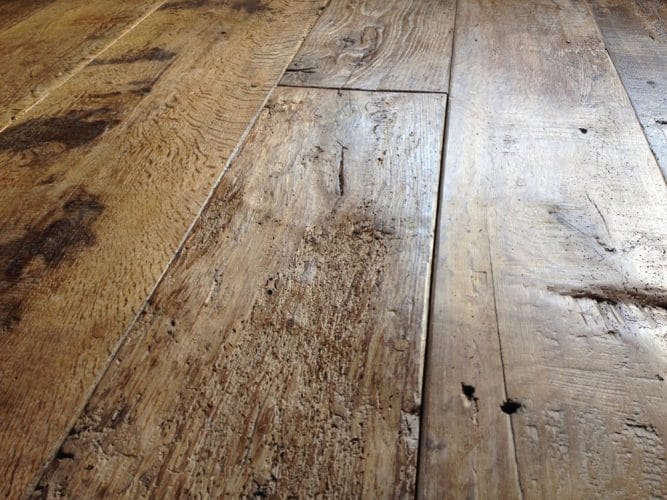 Reclaimed oak floor - restored