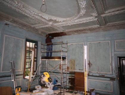 Groombridge house wood panelling restoration project