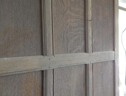 Wood panelling restoration country manor - sideview before