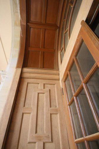 Oak door restoration - left side