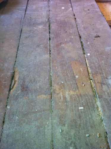 Oak flooring restoration - original flooring