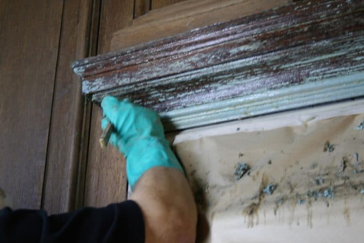 Wood panelling restoration - stripping varnish