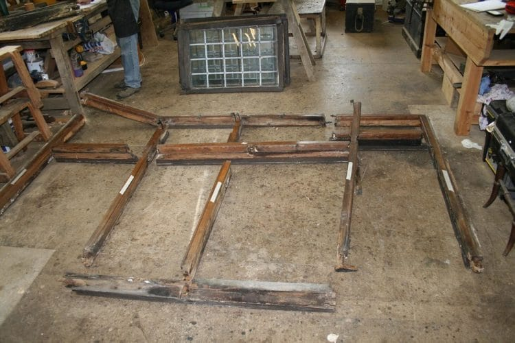 Wood window restoration - separated frames