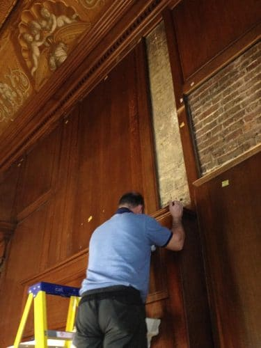 Kensington palace wood panel restoration - reinserting the panels