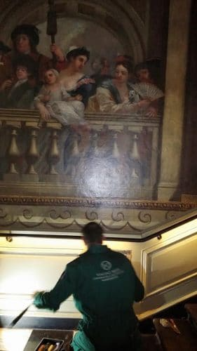 Kensington palace wood panel restoration- wall mural