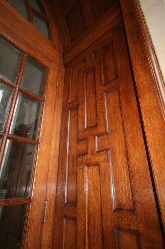 Oak door restoration - completed right side