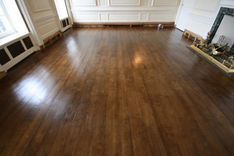 Oak flooring restoration and conservation - country manor house