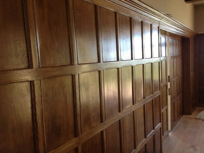 Wood panelling restoration country manor