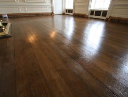 Oak flooring restoration - completed project