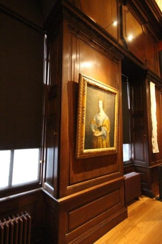 Kensington palace wood panel restoration - hung picture
