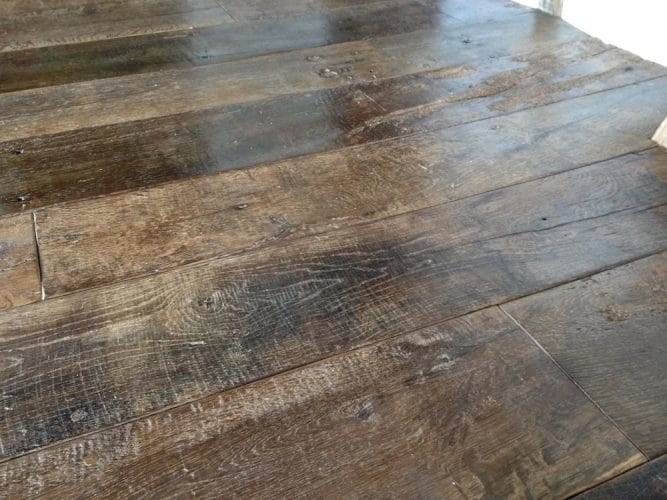 Reclaimed oak floor - restored and polished