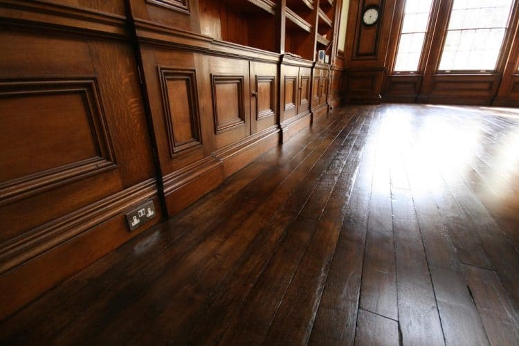 Oak floor - restored