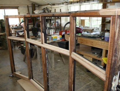 Wood window restoration - Baillie Scott House