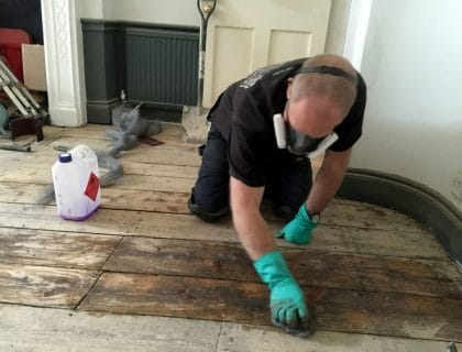 Restoring historic wooden flooring