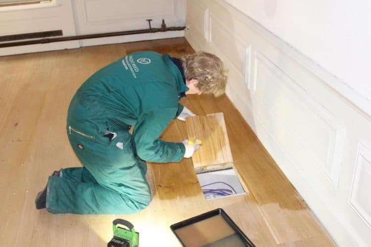 Kensington palace oak floor restoration