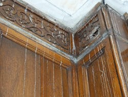Cracked wooden panelling repair restoration vincent reed