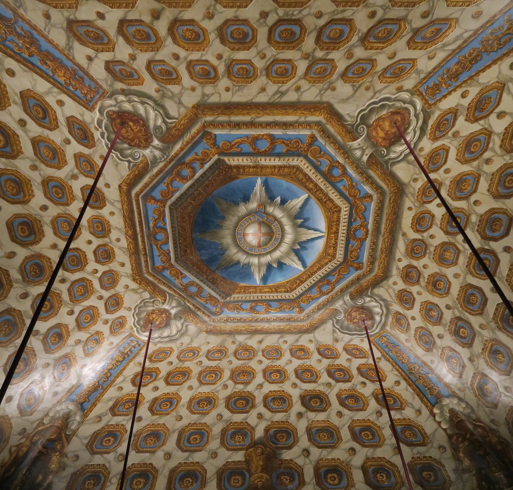 Ceiling in the Cupola Room painted by William Kent 1722
