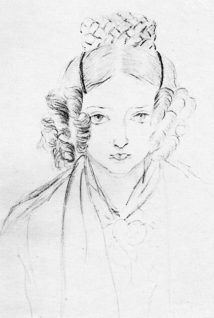 Princess Victoria, a self portrait, dated 1835
